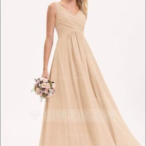 JJ's House champagne bridesmaid dress size 6